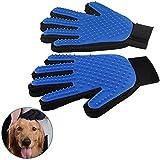 Ein Paar Tier Fellpflege Handschuh Silikon Bürste Kamm Massage-weich und effizient für reinigen für Hundehaare Katze