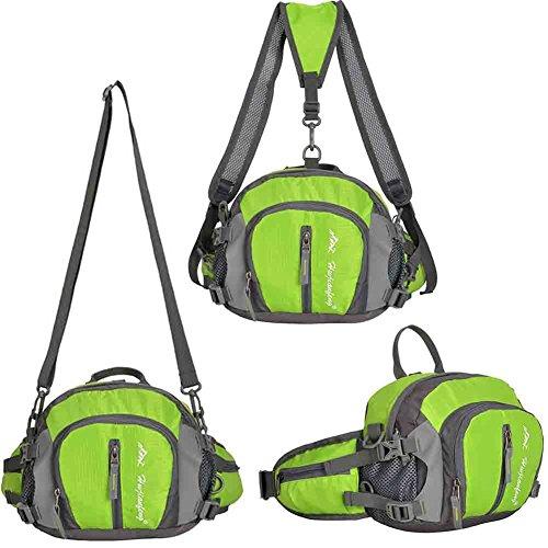 EcoSport multifunzione sport all' aria aperta impermeabile Marsupio, donna Uomo, Green, Taglia unica