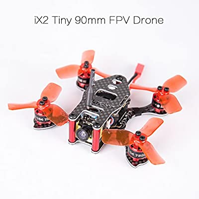 iFlight iX2 Tiny 90mm Micro FPV All In One BNF Drone with 4pcs iX1104 KV7500 Motor + Power Cube Elite Bundle + 5.8G 25MW 48CH Transmitter Camera VTX + 4pcs 2030 Propeller for FPV Racing Quadcopter