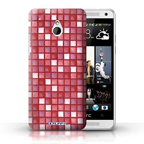 Kobalt® Imprimé Etui / Coque pour HTC One/1 Mini / Jaune/Marron conception / Série Carreau Bain Rouge