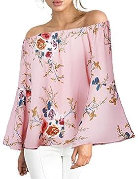 JYC Camiseta Manga Larga,Modern Western Blusa Para Mujer,Blusa Elegante Y Casual Para Discoteca, Mujer Casual...