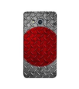 Fuson Red and Grey designer theme Designer Back Case Cover forSamsungSamsung Galaxy J3 Pro :: Samsung Galaxy J3 (2017)-3DQ-1133
