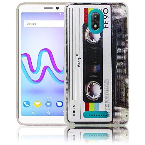 Wiko Jerry 3 Passend Kassette Retro Handy-Hülle Silikon - staubdicht, stoßfest & leicht - Smartphone-Case