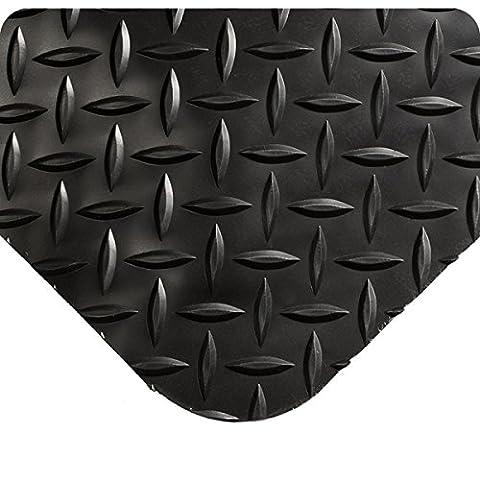 wearwell 415.916x 2x 7BK diamond-plate spongecote Tapis, 61cm x 213cm, noir