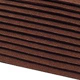 Schnoschi 12 Filzplatten Bastelfilz Filz Braun 2-3 mm Dick