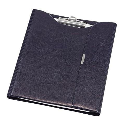 Arbeitsmappe Dokumentenmappe Aktenmappe Schreibmappe Ringbuch + Block Notizblock A4 dunkel blau
