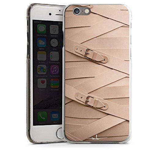 Apple iPhone 5 Housse étui coque protection Boucle Cuir Mode CasDur transparent