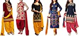 Maxthon Fashion Women's Printed Unstitched Regular Wear Salwar Suit Dress Material (Combo pack of 5)(Max_Combo_7093)(Max_3059_Maroon)(Max_3046_Red)(Max_3055_Black)(Max_3054_Blue)(Max_3001_Blue)