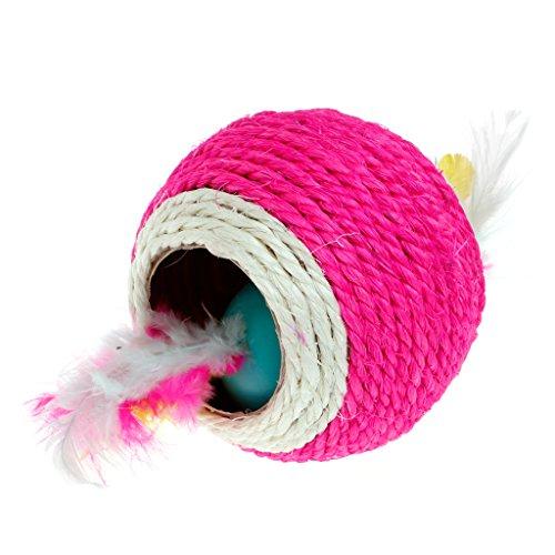 KatzenSpielzeug,Dairyshop Schöne Sisalseil Feder Kugel Teaser Scratch Chew Spielen Spielzeug für Haustier Katzen Kätzchen, Sisal - 4