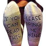 Tonsee 'IF YOU CAN READ THIS' Kreative Briefe Stricken Socken Für Damen Männer,Keep Warm