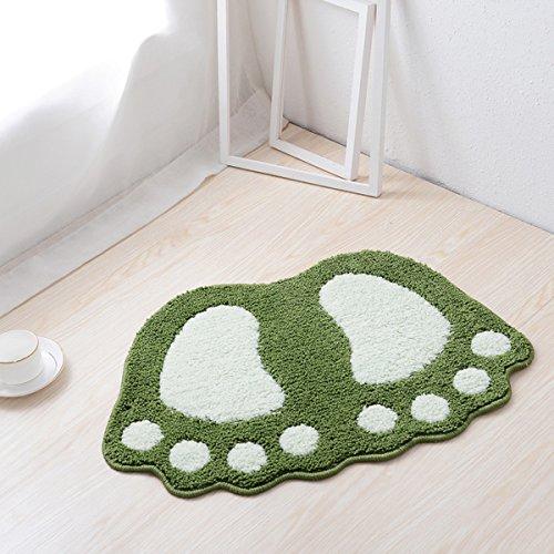 haply Große Füße Bad WC-Vorleger Teppiche Teppich absorbierenden Matten Fußmatte Fußmatte Badezimmer Teppiche Schlafzimmer Wohnzimmer Küche Fuß Pad Teppich, grün, 19