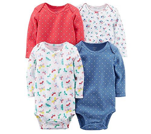 Carters Floral Bodysuit (Carter's Baby Girls' Long Sleeve 4-Pk. Floral Bodysuit Set)