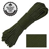 Nasharia Paracord 550 Professionelles Nylon Outdoor Seil 31m lang 4mm dick - Kernmantel Seil aus 9 Kernfäden aus reißfestem Nylon Fallschirmschnur 250KG Bruchfestigkeit
