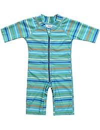 fce484442134 ATTRACO Baby Girls Boys Zip Rash Vest UV One Piece Rash Guard Swimwear UPF  50+