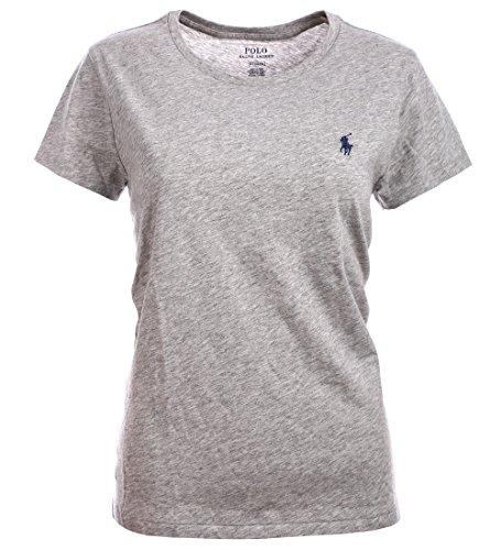 Ralph Lauren Polo Damen Rundhals Shirt T-Shirt Grau Größe S - Ralph Lauren-gerippte Jersey