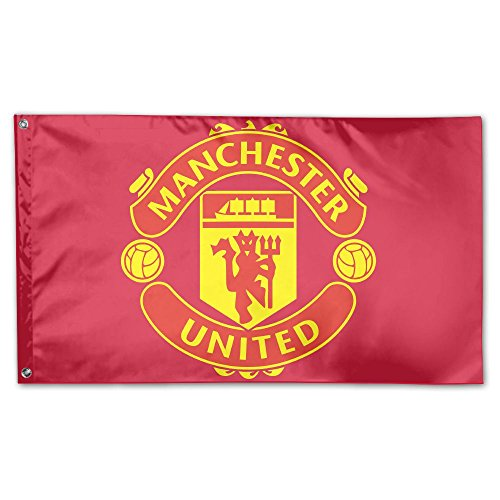 VCU Manchester United Hausflagge, Garten-Flagge, Garten-Flagge, 91,4 x 152,4 cm One Size weiß