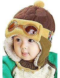 Tuopuda® Gorros Bebé Niño Niña Invierno Sombrero Piloto Tejer Earflap Sombreros