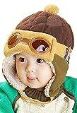 Tuopuda Babymütze Winter Junge Mädchen Warm Mütze Pilot Flieger Hut mit Ohrenklappen (braun)