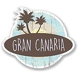 #6768 Vinilo adhesivo 2x 10cm Gran Canaria, Islas Canarias