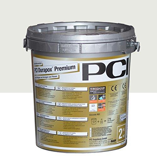 PCI Durapox Premium Reaktionsharz-Mörtel 2kg Eimer, Silbergrau