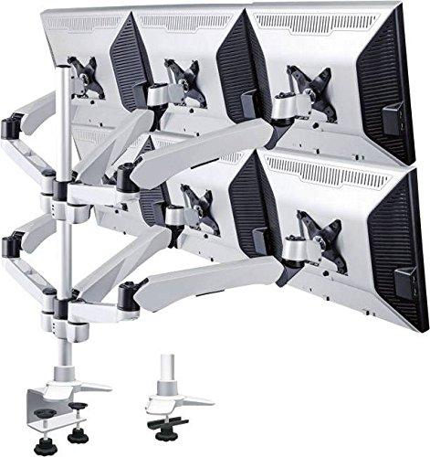 Speaka Professional SP-3947576 Flex 6fach Monitor-Tischhalterung 25,4cm (10) - 48,3cm (19) Höhenv
