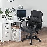 Navy Blue Furniture Silla giratoria de oficina para el escritorio, 5 ruedas giratorias, cómoda, ajustable,...