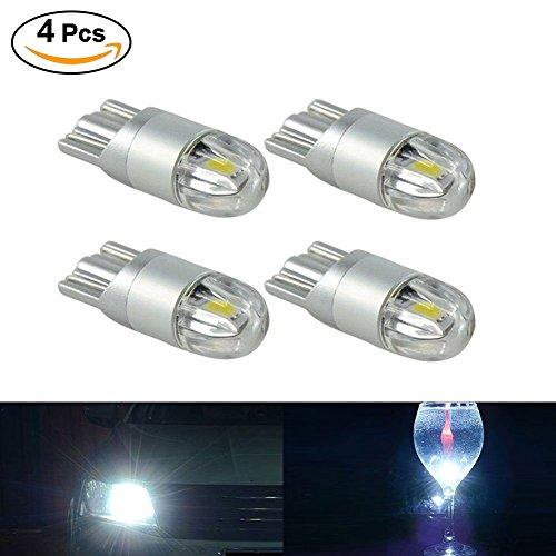 SUPAREE 4X Blanco Bombilla LED T10 3030 2SMD W5W luz Lateral, lámpara de la Placa de matrícula de Coche