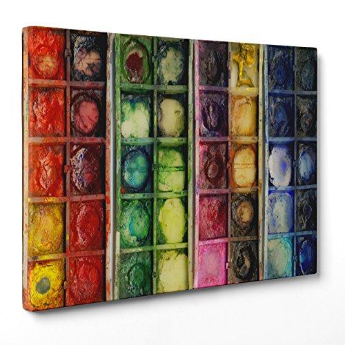 Bild auf Leinwand Canvas-Gerahmt-fertig zum Aufhängen-Damien Hirst-Aquarell Dimensione: 70x100cm A - Senza Cornice