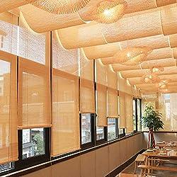 Persianas de bambú Cortina de caña Persiana Enrollable Cortina Persianas Accesorios Decorativos, Sombrilla Impermeable y Transpirable, Adecuado para el Corredor de la Sala de casa de té.
