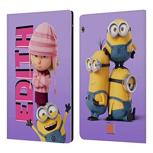 Head Case Designs Offizielle Despicable Me Edith Gru's Familie Leder Brieftaschen Huelle kompatibel mit Huawei MediaPad T5 (Me Edith Despicable)