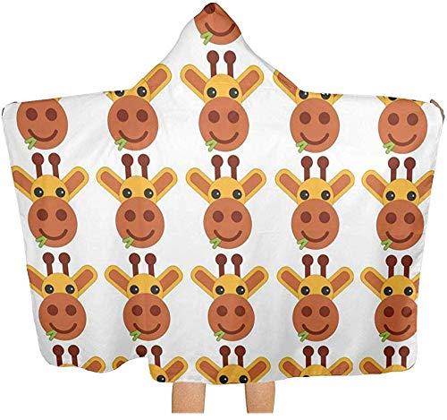 Sdltkhy Hooded Towel Cute Giraffe is Grazing Absorbent Hooded Bath Towel Robe Poncho Hooded Towel Microfiber Hooded
