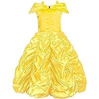 KABETY Robe de princesse Belle Hors épaule Robe de fille cosplay costume