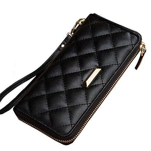Wallet LCCLong Female New Classic Small Wind Lingge Clutch Bag Simple Multi-Card Female