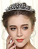 Nero Vintage Wedding Tiaras For Women, Bridal Hair Accessories With Pearls And Rhinestones