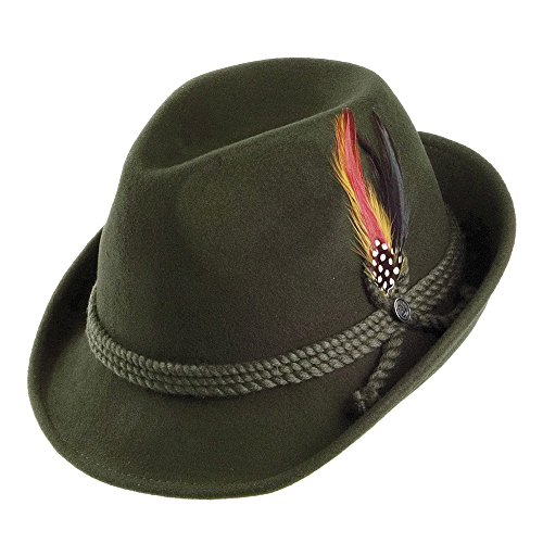 Village Hats Jaxon Tyrolean Hat, Tribly Homme, Vert, (Taille Fabricant: Medium)
