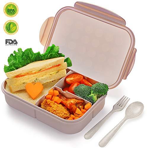 SIPU Lunchbox mit Unterteilungen Brotdose Kinder Bento Box auslaufsicher für Schule Arbeit Picknick Reisen Untrwegs Mikrowelle- Spülmaschinegeeignet