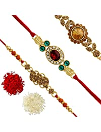 Rakhi for Brother | Rakhi for Brother with Gift | Rakhi for Brother Designer | Latest Rakhi Design | Designer Rakhi for Brother | Rakhi Combo | 2019 Latest Rakhi Gift for Brother (RKH37$P)