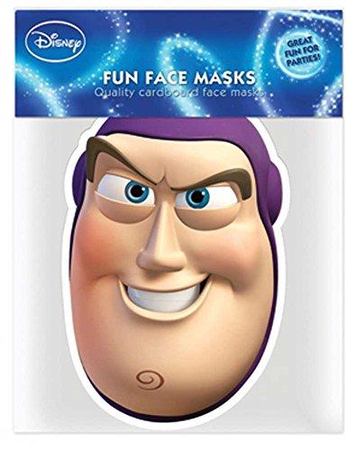 (Toy Story Buzz Lightyear - Papp Maske, aus hochwertigem Glanzkarton mit Augenlöchern, Gummiband - Grösse ca. 30x20 cm)