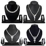 #5: Atasi International Diamond Look Combo Jewellery Set for Women
