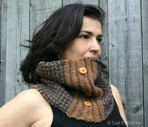 Patrón de punto, patron de tejer bufanda cuello en Español,  (02) knitting pattern in spanish