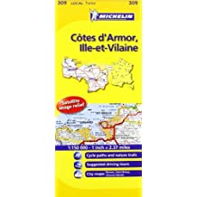 Michelin Map France: Ctes d'Armor, Ille-et-Vilaine 309 (Maps/Local (Michelin)) (English and French Edition) by Michelin (2011-01-16)