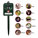 Focuspet Cat Repellent, Animal Repeller Ultrasonic Animal Control Repellent Deterrent Solar Powered Cat Scarer Outdoor Waterproof With LED Flashing Light for Cat, Dog, Fox, Squirrel, Rat, Bird 5 Mode