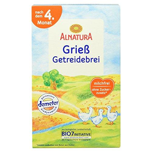 Alnatura Bio Grieß Getreidebrei nach dem 4. Monat, 250 g