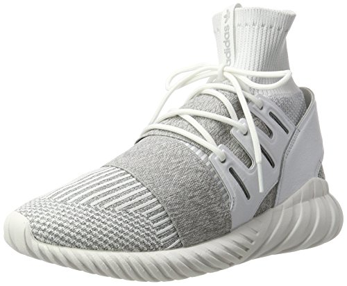 adidas Unisex-Erwachsene Tubular Doom Primeknit Sneakers, Weiß (Footwear White/Footwear White/Clear Grey), 41 1/3 EU (Schuhe High Top Adidas)