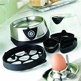 Russell Hobbs Eierkocher, 1 bis 7 gekochte oder 3 gedämpfte Eier (inkl. Dampfgarer-Einsatz), automatische Abschaltung, Signalton, BPA-frei, inkl. Messbecher, Testsieger, Cook@Home 14048-56 - 3