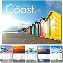 Calendar 2019, UK Coast Calendar 2019 (A4, UK's Iconic Coastal Scenery)