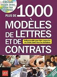 Plus de 1 000 modèles de lettres et de contrats 2016 : Indispensable pour faire respecter vos droits dans tous les domaines (1Cédérom)