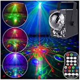 LED Disco Lights Party Lights LED Projector LED RGB Stage Light Disco Ball with Music Strobe Light by Remote Control Great fo