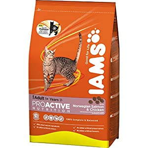 Iams Cat Adult Salmon Cat Food 3kg from Iams