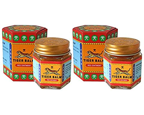 2 Jars of Tiger Balm Red Ointment 30g/Jar (Large